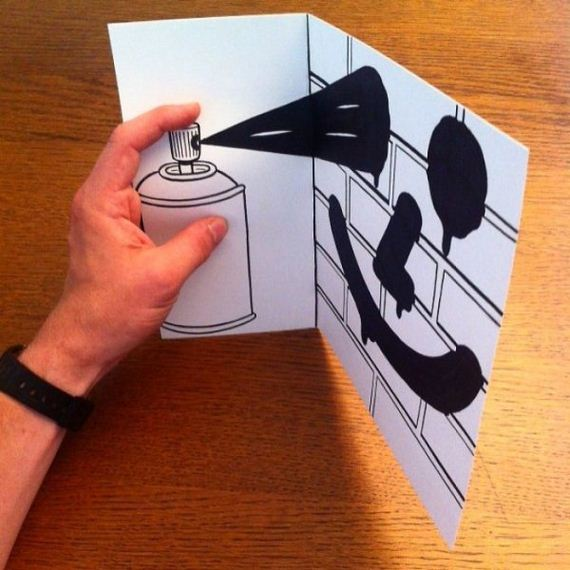 07-cool-3d-paper-art-awesome-cartoons