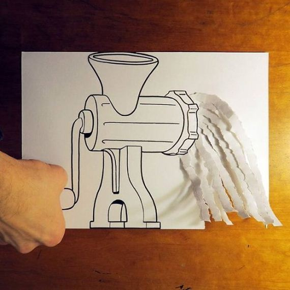 28-cool-3d-paper-art-awesome-cartoons