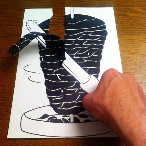 36-cool-3d-paper-art-awesome-cartoons