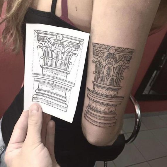 amazing architectural tattoos barnorama. Black Bedroom Furniture Sets. Home Design Ideas