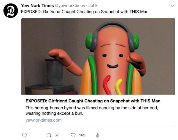 Dancing Hot Dog Gif Snapchat