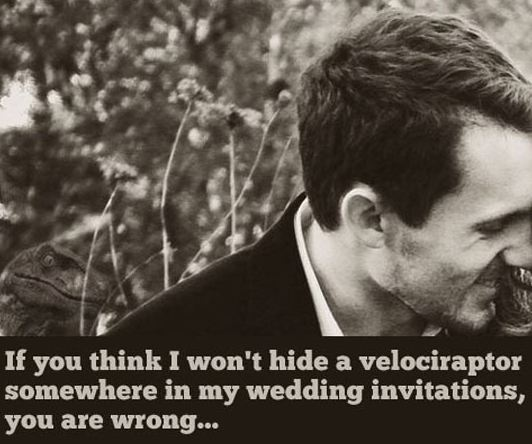 Raptor wedding