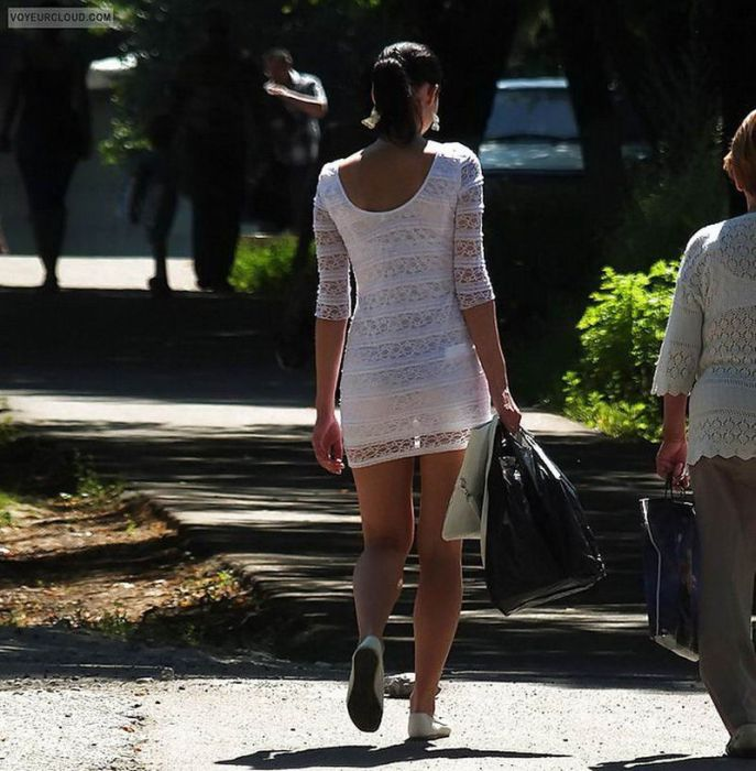 Women In See Through Clothes In Public