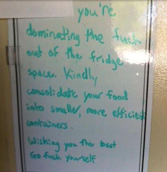 Bad Passive-Aggression Roommates