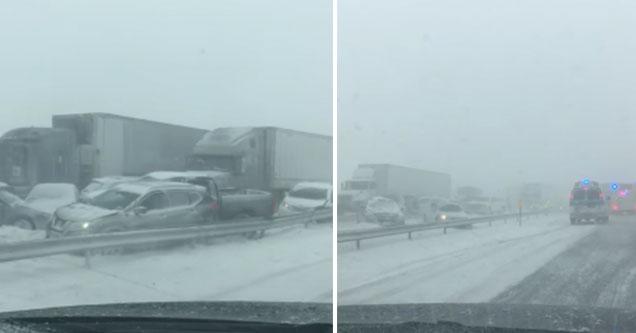 100 Car Pile Up On I 90 East In Buffalo New York Barnorama