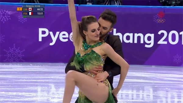 French figure skater suffers nip slip at olympics finishes like a french figure skater suffers nip slip at olympics finishes like a pro thechive voltagebd Image collections