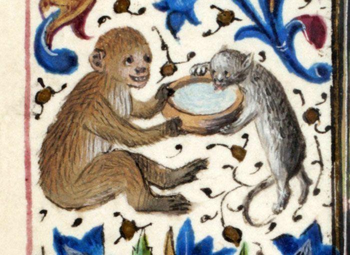 Medieval Cat Paintings - Barnorama
