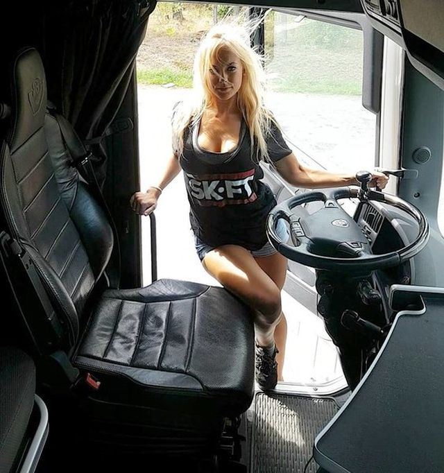 this swedish girl is the most beautiful female truck driver barnorama. Black Bedroom Furniture Sets. Home Design Ideas