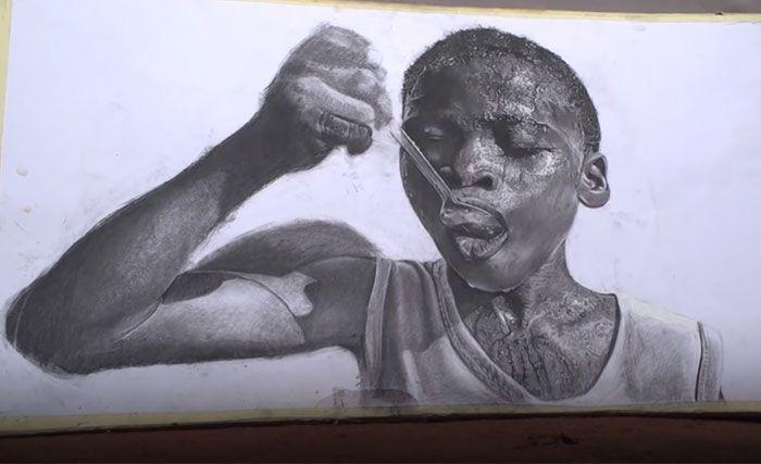 11 Year Old Kid From Nigeria Creates Hyperrealistic