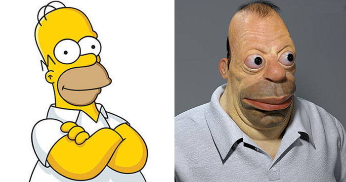 Realistic Cartoon Character Versions By Miguel Vasquez You
