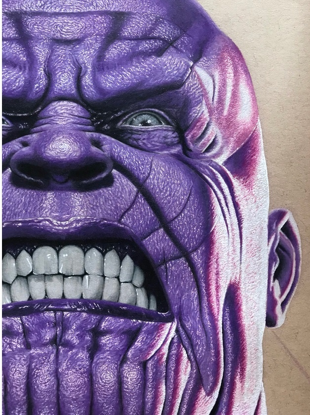 Painted Thanos Of The Avengers Barnorama