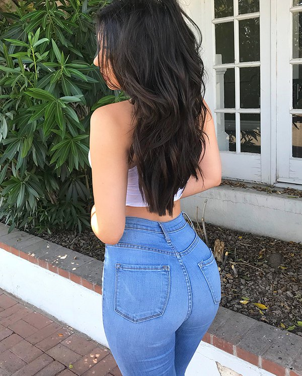 Hot teen in jeans