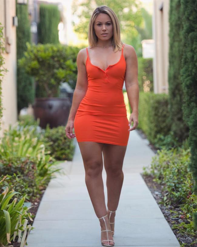Hot girl tight dress