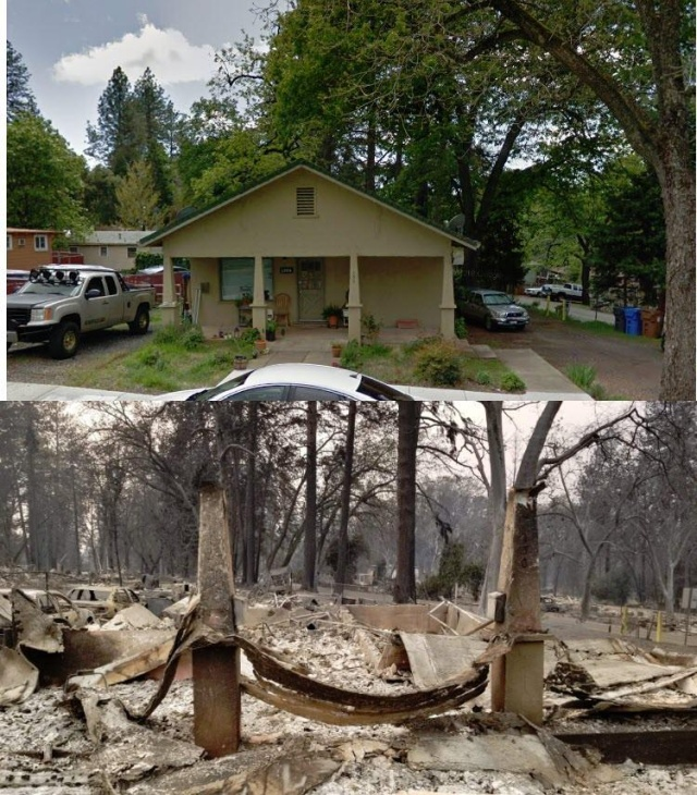 California Before VS. After The Wildfire - Barnorama