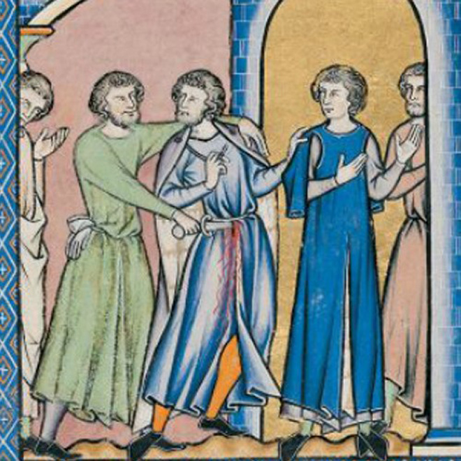 16 People Getting Stabbed In Medieval Art Who Just Don T