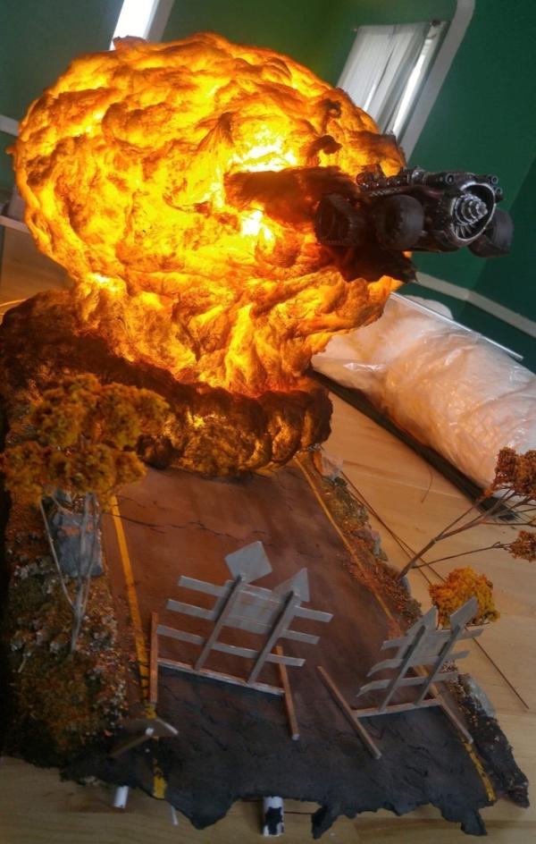 Epic Warhammer 40k Diorama Barnorama