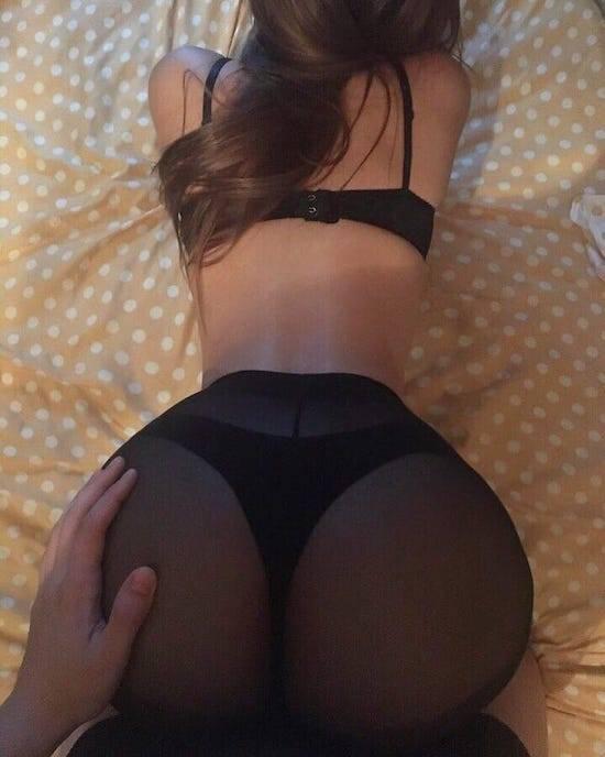 Sexy black ass bent over