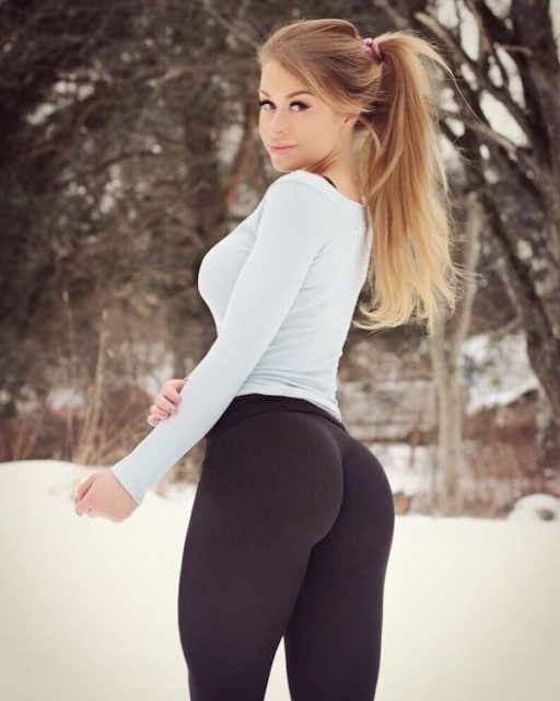 girl in yoga pants fucked