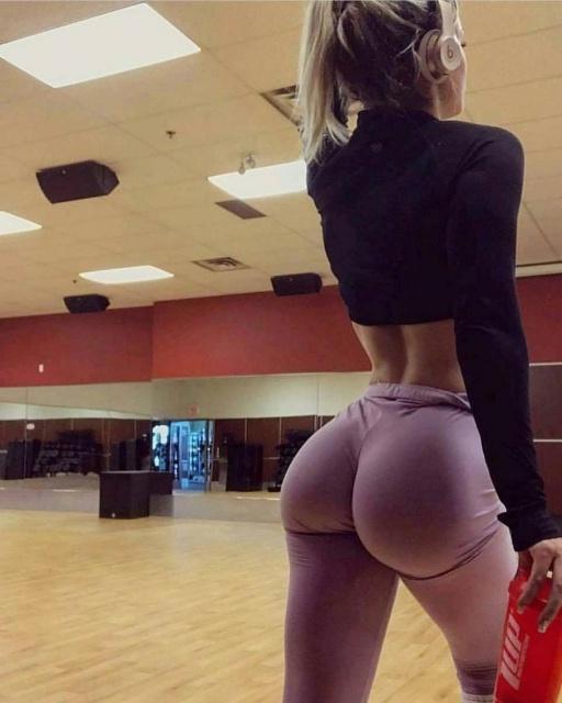 Sexy ass yoga pants gif