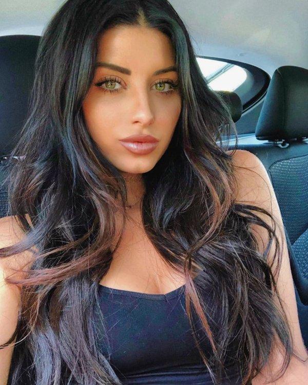 Beautiful dark haired girl