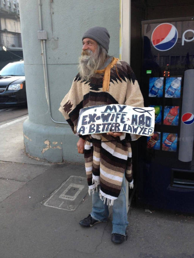 20 Homeless People Who At Least Still Have These Funny