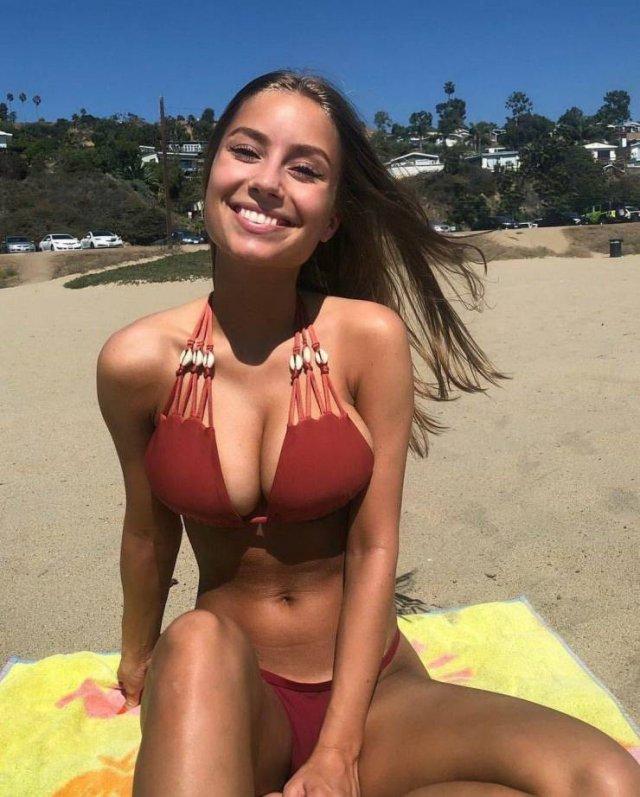 Teen age girls in bikinis