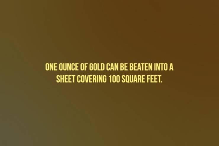 20 блестящих фактов о золоте - Барнорама
